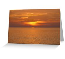 Silky Sunset Greeting Card
