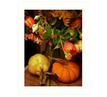 Autumn Still Life ~ Nightime Art Print