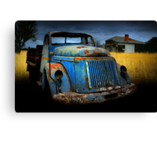 Diesel blue Canvas Print