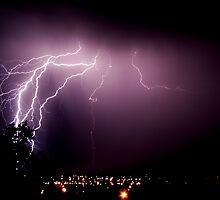 Lightning Crashes by Prescott Pym