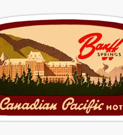 Banff Springs Hotel Alberta Vintage Travel Decal Sticker