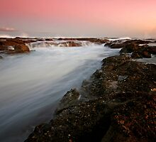 Rock Platform at Dusk 1 by Mark Snelson