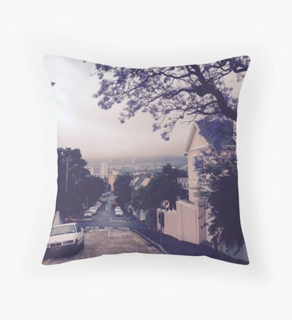 Street In Cape Town Throw Pillow