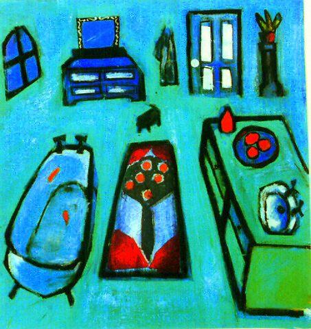 blue bathroom by liz strauss