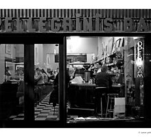 Nighthawks at the diner by Aaron .