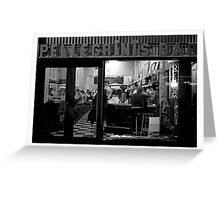 Nighthawks at the diner Greeting Card