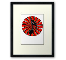 Red Hot Semiquaver -  16th Note Music Symbol Framed Print