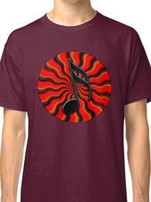 Red Hot Semiquaver -  16th Note Music Symbol Classic T-Shirt