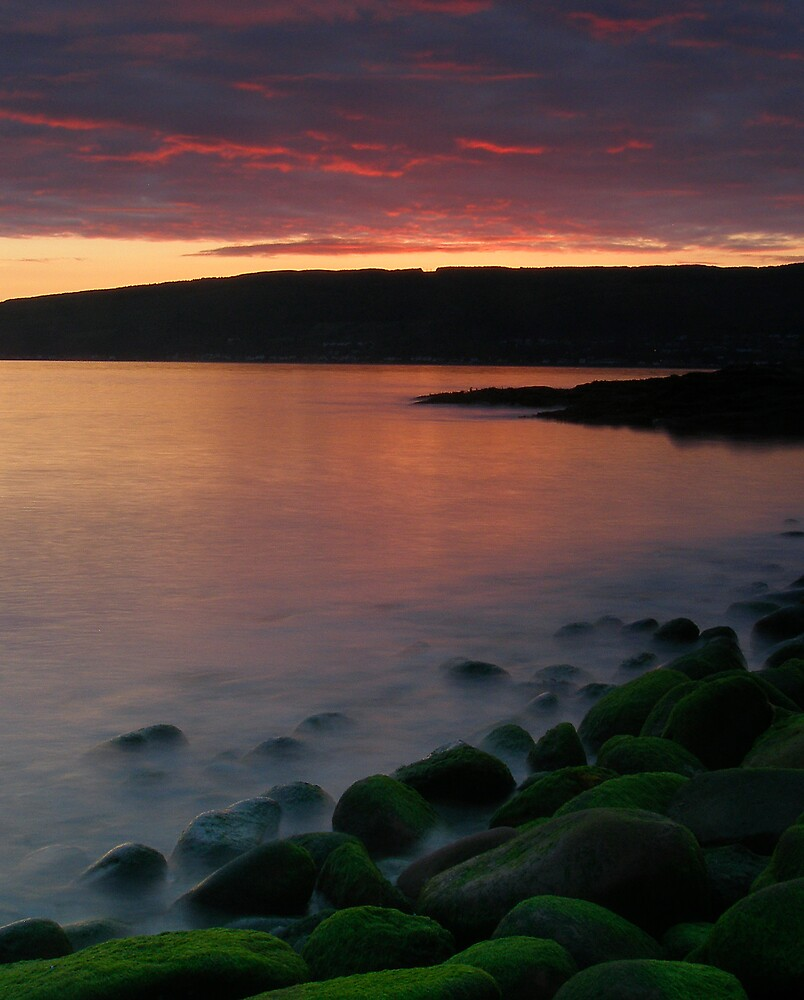 Sunset over the River Clyde by David James