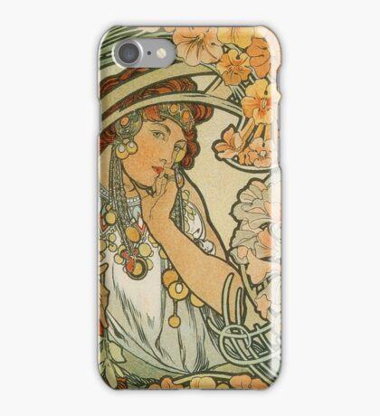 Alphonse Mucha, Art Deco, Art Nouveau  iPhone Case/Skin