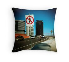 No Pedestrians Throw Pillow