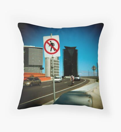 No Pedestrians Throw Pillow
