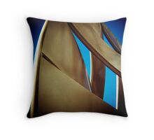 Curved Sky Throw Pillow