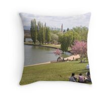 Lake Burley Griffin Throw Pillow