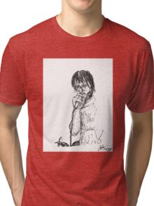 "Micheal ""Eyedea"" Larsen Portrait Tri-blend T-Shirt"