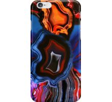 Blue Agate Layers of Earth iPhone Case/Skin