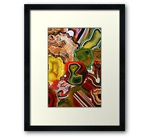 The Beauty in the Earth, Agates Framed Print