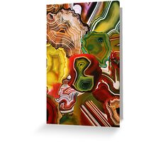 The Beauty in the Earth, Agates Greeting Card