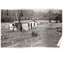 Abandoned House, Hops Fields, Tasmania Poster