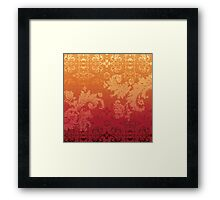 Retro floral wall paper Framed Print