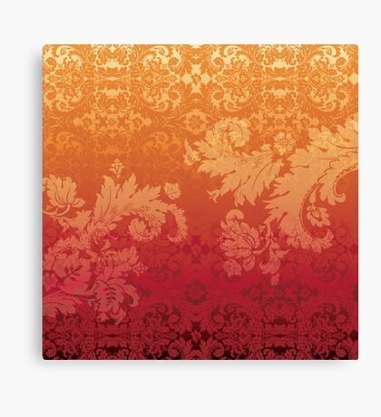 Retro floral wall paper Canvas Print