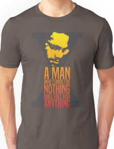 Malcolm X Typography Quotes Unisex T-Shirt