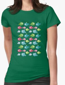 Little fishes Womens Fitted T-Shirt