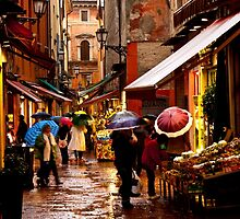 Shopping in the Rain by Rae Tucker