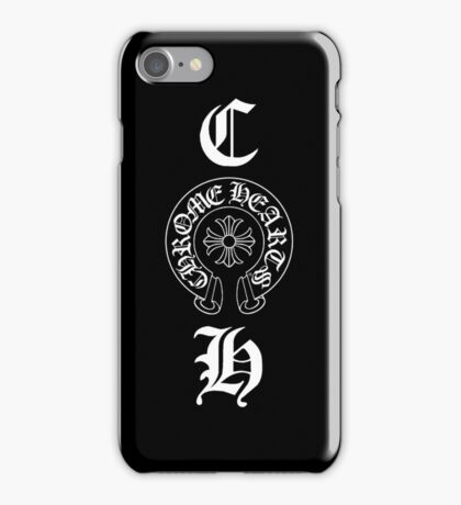 Vertical CH Initial + Emblem iPhone Case/Skin