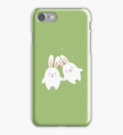 Bunnies in love iPhone Case/Skin