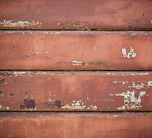 Old iron rolling shutter. by Antonio Gravante