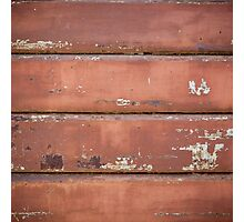 Old iron rolling shutter. Photographic Print