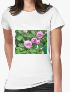 Pink Roses in the Garden 2 Womens Fitted T-Shirt