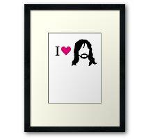 I love Kili Framed Print