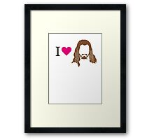 I love Fili Framed Print