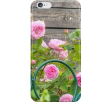 Pink Roses in the Garden 3 iPhone Case/Skin