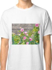 Pink Roses in the Garden 3 Classic T-Shirt