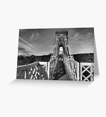 Suspended footpath Greeting Card