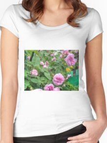 Pink Roses in the Garden 6 Women's Fitted Scoop T-Shirt
