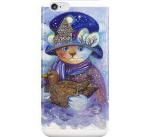 winter cat iPhone Case/Skin