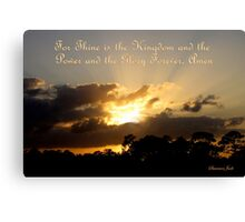 Thine Is the Kingdom ~ God Is King Canvas Print
