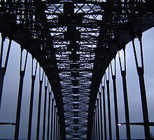 Inside Harbour Bridge 1 by Barry Ross