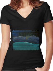 WDV - 381 - Touch Vector Women's Fitted V-Neck T-Shirt
