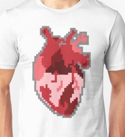 pixelated heart Unisex T-Shirt