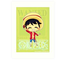 Chibi Luffy Art Print