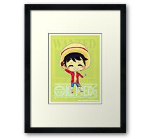 Chibi Luffy Framed Print