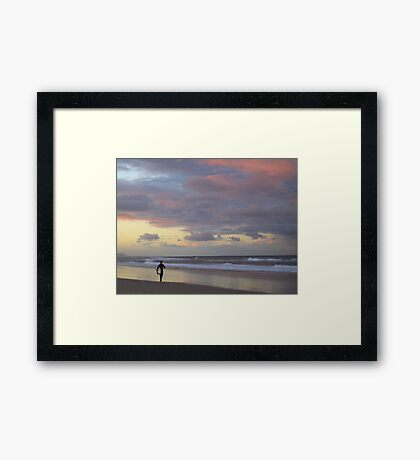 Where in the world but..... Framed Print