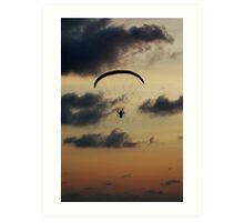 Paraglider sunset Art Print