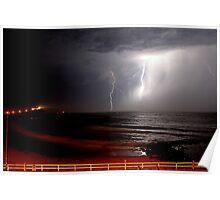 Nobby's Beach Storm Poster