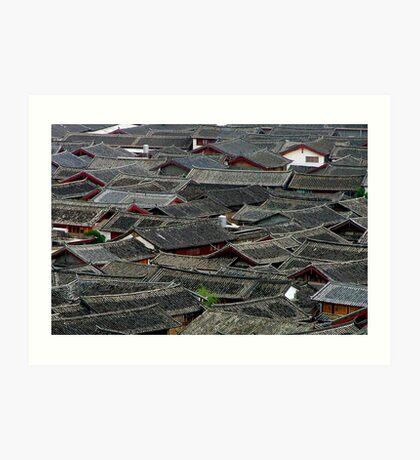 Lijiang Rooftops 1 Art Print